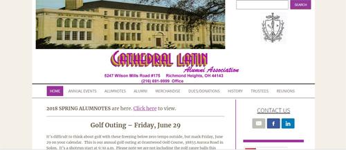 """<a href=""""https://www.clatin.com"""">Cathedral Latin Alumni Association</a>"""