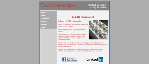 "<a href=""https://www.claadmechanical.com"">CLAAD Mechanical LLC</a>"