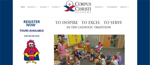 """<a href=""""https://www.corpuschristiacad.org"""">Corpus Christi Academy</a>"""