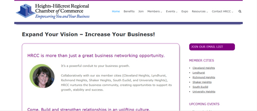 """<a href=""""https://www.hrcc.org"""">Heights-Hillcrest Regional Chamber of Commerce</a>"""