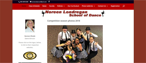 """<a href=""""https://www.noreendancer.com"""">Noreen Londregan School of Dance</a>"""